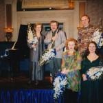 Petals Ensemble in Jakarta 1998: Tuija Hakkila, Mikael Helasvuo, Kaija Saariaho, Anssi Karttunen, Pia Freund