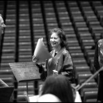 Arie van Beek, Camilla Hoitenga during the rehearslas of Aile du Songe with the Orchestre d'Auvergne in Clermont Ferrand, 2008