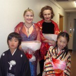 in Osaka with Anu Komsi, after the world premier of Leino Songs for soprano and orchestra 2008.