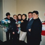 Composer Festival in Stockholm (2002) Magnus Lindberg, Peter Schele, Kaija Saariaho, Camilla Hoitenga, Mats Engstrom, Alan Gilbert.