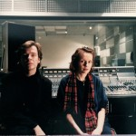 With Magnus Lindberg at Studio 5 IRCAM, Paris 1986