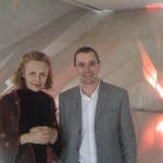 With Antonio Jorge Pacheco in Porto during Kaija Saariaho's residency