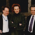 Peter Sellars, Kaija Saariaho and Amin Maalouf in Salzburg, 1998